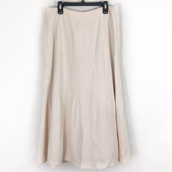 6e24341f4 Christopher & Banks Skirts | Christopher Banks Tan Linen Panel Aline ...